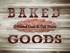 Rustic Baked Goods Bread Kitchen Art Bakery Wall Art Matted Photo Picture A298