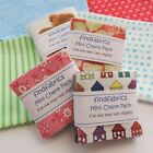 """Mini Charm Packs  2.5""""  x  2.5""""  Each pack contains 20 pairs of squares, i.e. 40"""