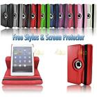 360 Degree Rotating PU Leather Case Stand For Apple iPad Mini RED