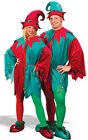 DELUXE ELF SANTA HELPER CHRISTMAS FESTIVE ADULT MENS WOMENS FANCY DRESS COSTUME