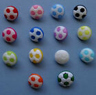 Football shaped Buttons- different colours & quantites available