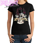 No Time for Losers Ladies Shirt Skull w/ Top Hat and Flames Trendy Teen Aces