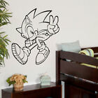 LARGE CHILDRENS BEDROOM WALL ART STICKER SONIC HEDGEHOG  STENCIL TRANSFER DECAL