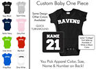 Ravens Baby One Piece - Custom Name and Number, Creeper, Onesie