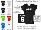Heat Baby One Piece - Custom Name and Number, Creeper, Onesie