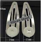 Silver Hair Snap Clips with Glue Pad 48mm - 10, 25, 50, 100, 200 or 400 pieces