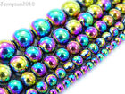 100pcs Multi-Colored Natural Hematite Gemstone Round Ball Beads 4mm 6mm 8mm 10mm
