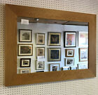 NEW LARGE 95mm FLAT NATURAL SOLID OAK OVERMANTLE WALL MIRRORS-VARIOUS SIZES