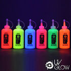 UV Glow Neon Fabric Paint - 175ml Choose Your Colour - Super Bright blacklight