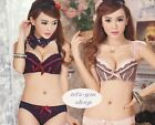 1a047-1 Charming Flower Lace  Push Up Bras & Panty Bra Sets 32C 32D 34C 34D 36C