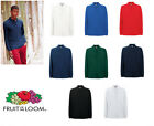 Fruit of the Loom Premium Long Sleeve Polo All Sizes