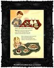 WHAT ARE LITTLE BOYS & GIRLS MADE OF Illustrated Child's Poem VintageART PRINT