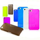 0.5mm Ultra Thin Slim Matte Frosted Hard Plastic Case Cover For iPhone 4 4GS 4S