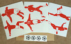 FOOTBALL PLAYERS - 6 PACK + 4 FOOTBALLS -VINYL WALL ART STICKERS- BEDROOM - IPAD