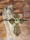 Guardian Angel Lady Cross Religious Art Neutral Colors Faith Matted Picture A324