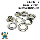Nickel Plated Solid Brass Eyelets & Washers Handy Pk (24 of each part)CS Osborne