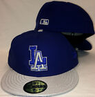 NEW ERA 59Fifty LA Dodgers Hat 2 Tone Blue Silver Los Angeles Made in USA MLB