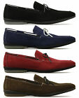 MONK MONZA Mens Suede Leather Tassel Driving Loafers Shoes Brown/Navy/Blue/Red