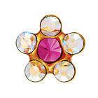 Studex Sensitive 5mm Coloured Daisy Crystal Stone Gold Plated Stud Earrings
