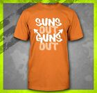 SUNS OUT GUNS OUT WORKOUT FITNESS TRAINING LIFTING BODY BUILDING T-SHIRT TEE