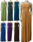 Strappy Summer Maxi Dress UK Size 10 - 26 (Plain Colors)