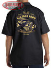 Vintage Iron Hot Rat Rod Customs Mechanics Work Shirt Biker M-3XL Victory Defeat $24.69 USD on eBay
