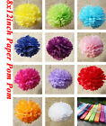 "8x12""/30cm Colourful Tissue Paper Pom Pom Party  Wedding Decoration baby shower"