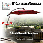 10' CANTILEVER PATIO BANANA UMBRELLA GARDEN OUTDOOR SUNSHADE HANGING MARKET