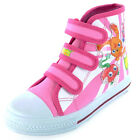 Girls SIZE 10 - 2 MOSHI MONSTERS Velcro Canvas Hi Top Trainers Baseball Boots