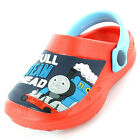 Boys SIZE 5 - 10 THOMAS THE TANK ENGINE Blue Red Clogs Sandals NEW Full Steam