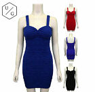 WOMENS BODYCON BUBBLE RIPPLE PARTY DRESS SEXY LADIES STRAP MINI SKIRT HOT TOP
