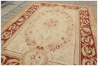 FREE SHIP! AUBUSSON CASTLE French Area Rug Rust Antique Red Pink Wool Carpet NEW