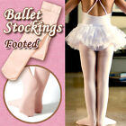 2PairsChildren/girls ballet stockings/dance footed tights/pantyhose,pink,6 sizes