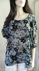 *Luxx* Navy and cream batwing style top s/m,m/l. M/L will fit up to size 22
