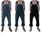 Men Women Unisex Dark Wash Denim Onesie Dungarees All In One Piece Bib Overalls