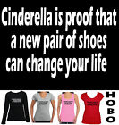 Cinderella Shoe fetish Hobo T-Shirts tops Women's ladies size new Singlet funny