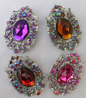Stunning Oval shape brooch in four colours- new brooches (09)
