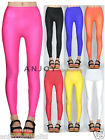 Candy Color Shiny Skinny Tight Stretch Leggings Liquid Spandex Nylon Dance Pants