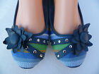 BLUE CASUAL WOMEN FLAT SHOES SIZE 6-11 MULTICOLOR