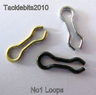 100 DO IT LOOPS EYES FOR LEAD MOULD WEIGHT SINKER MAKING STAINLESS BRASS BLACK