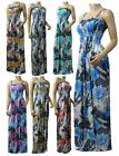 Strappy Maxi Dress UK Size 12 - 26 in Various Length - (ZBRA2 - LEO2)