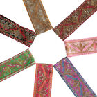 Neotrims Indian Sari Embroidery Trimming Ribbon by the Yard Wide Sequins Border