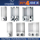 Croydex Euro Soap Shower Gel Bathroom Pump Dispenser Wall Mounted Aviva