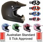 HELMET ADULT MOTO MOTOCROSS DIRT BIKE QUAD ATV TRAIL S, M, L, XL WITH GOGGLES