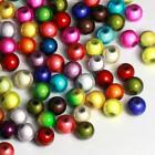 100Pcs mixed color 3D illusion acrylic/plastic miracle beads  6mm 8mm 10mm