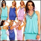 Sexy Women's Clubwear Mini Dress Summer Party Casual Tunic One Size 6,8,10,12 UK