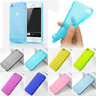 0.5mm Soft TPU Ultra Thin Matte Back Case Cover Skin Side Button For iPhone 5 5G