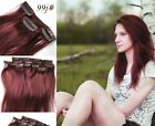 "16""-28"" any color 9pcs 100g full head clip-in indian remy human hair extension"