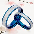 BLUE Groom & Bride 2 RINGs SET Wedding Anniversary Titanium Rings SzH-Z7