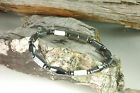 Magnetic Classic Bracelet Diamond Shaped Magnetic Hematite Stones Handmade USA